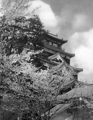 Hiroshima Castle - The tenshu prior to its destruction in 1945.