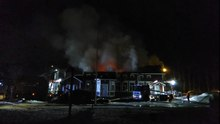 Tiedosto:Historic vicarage on fire in Kempele, part II.ogv