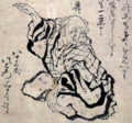 Hokusai Katsushika, Selfportrait at the age of eighty-three (crop).png