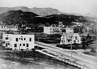 Hollywood - The intersection of Hollywood and Highland, 1907