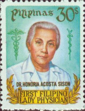 Honoria Acosta-Sison - A stamp of Acosta-Sison, made in her honor.