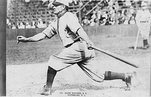 Ban Johnson Park - Honus Wagner 1911 batting