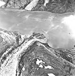 Hoonah and Tyeen Glaciers, terminus of tidewater glaciers and icefall, September 17, 1966 (GLACIERS 5917).jpg
