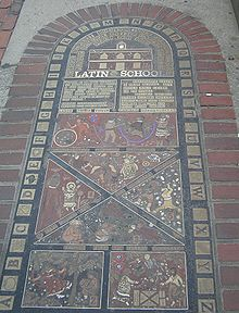 Boston's Latin School Hopscotch court