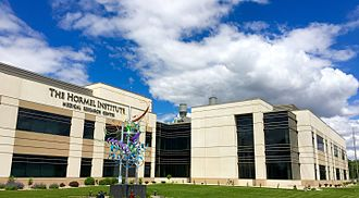 Austin, Minnesota - The Hormel Institute is a cancer-research facility operated by the University of Minnesota and Mayo Clinic. It was significantly expanded in 2015-16.
