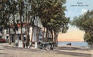 Laguna Beach, California - Pre-1917 postcard of Joseph Yoch's original Hotel Laguna -- built in 1888 and replaced in 1930
