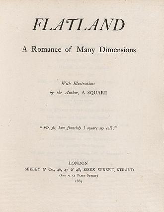 Edwin Abbott Abbott - Flatland title page, 1884
