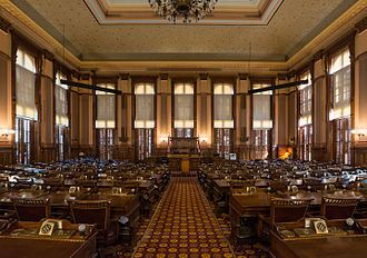 Georgia House of Representatives - Image: House Chamber, Georgia State Capitol, Atlanta 20160718 1