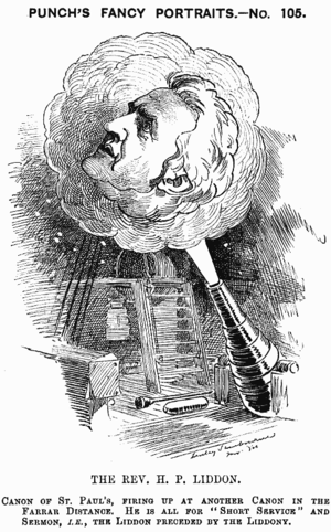 Henry Liddon - Caricature from Punch, 1882