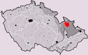 Hrubý Jeseník - Location of Hrubý Jeseník in the Czech Republic