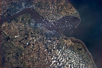 Humber - The Humber from the International Space Station