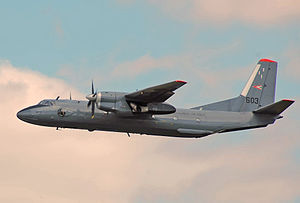 2015 Syrian Air Force An-26 crash - A military Antonov An-26 similar to the aircraft involved