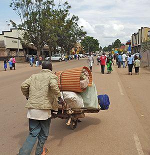 Butare - Main street.