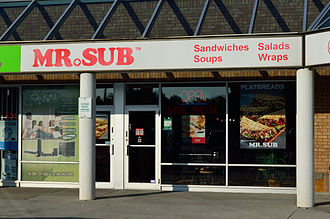 Mr. Sub - Mr.Sub restaurant in Richmond Hill, Ontario.