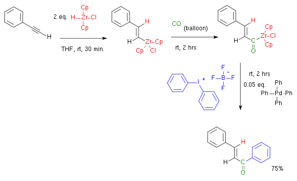 Hydrozirconation carbonylation coupling Kang 2002