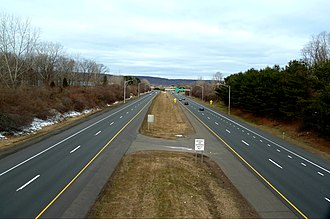 Cheshire, Connecticut - I-691 in Cheshire.