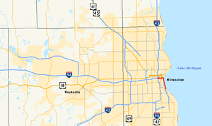 Interstate 794 - Image: I 794 map