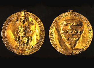 Golden Bull of 1222 - Image: II. András aranybullája