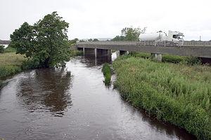 N77 road (Ireland) - N77 crossing the River Nore at Ballyragget
