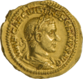 INC-1880-a Ауреус Требониан Галл (аверс).png