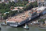 INS Vikrant being undocked at the Cochin Shipyard Limited in 2015 (02).jpg