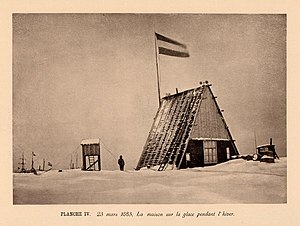 Climate of the Arctic - A photograph of the first-IPY station at the Kara Sea site in winter