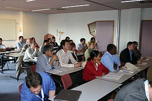 ITC Enschede -  A typical class in session at ITC