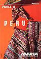 Iberia- cartel histórico vuelos a Perú (1966) (5619613136).jpg