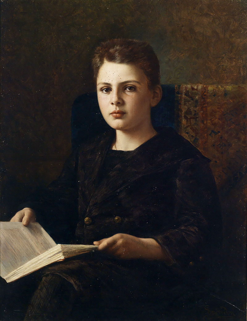 Ignace Spiridon Portrait des jungen Oskar Fraenkel 1898.jpg