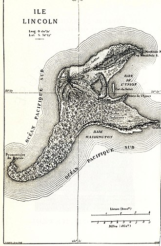 "The Mysterious Island - Map of ""Lincoln Island"""