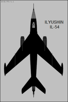 Ilyushin Il-54 Blowlamp top-view silhouette.png