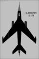 Ilyushin Il-54 Blowlamp top-view silhouette.png