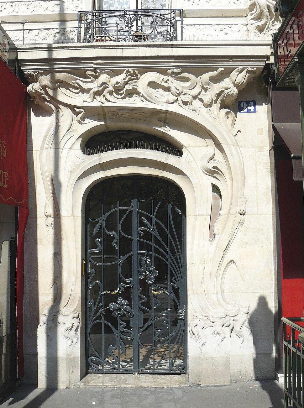 Immeuble rue de l'église détail Porte