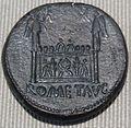 Impero, augusto, sesterzio in oricalco (lione), 10-14 dc 02.JPG