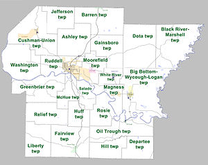 Independence County, Arkansas - Townships in Independence County, Arkansas as of 2010