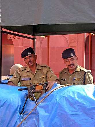 Law enforcement in India - CISF personnel at Red Fort, Delhi