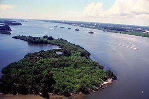 Aerial view of Indian River Lagoon