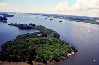 Treasure Coast - Aerial view of Indian River Lagoon