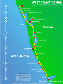 schematic of India's national waterway #3 Water In Hand
