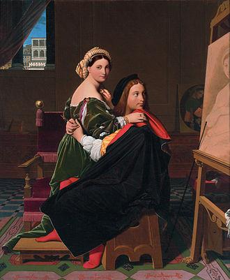 Madonna della seggiola - Image: Ingres Raffael And Fornarina