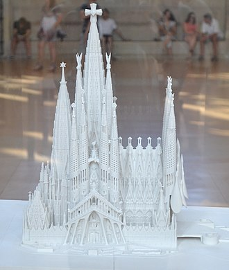 Sagrada Família - A model of the completed church