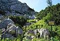 Integra - Italienischer Schutzweg - Sentiero storico 1915-1917 am Historischen Rundweg Kötschach-Mauthen, Kärnten.jpg