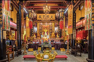 Taoist temple - Interior of the Leong San See temple, Singapore