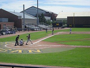 Iowa Hawkeyes baseball - Iowa playing against Michigan in Ann Arbor during the 2013 season.