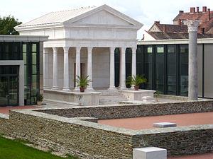 Szombathely - Temple of Isis, reconstruction