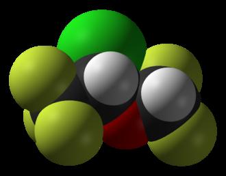 Isoflurane - Image: Isoflurane 3D vd W