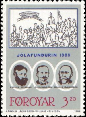 Christmas Meeting of 1888 - 3.20 kr stamp