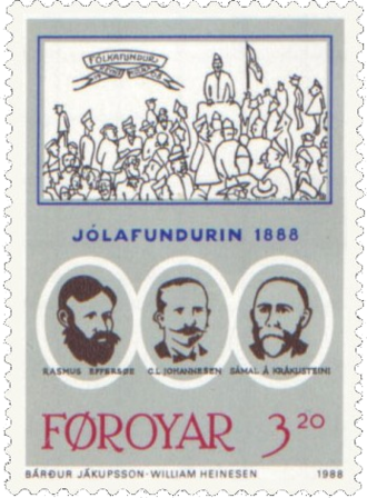 Christmas Meeting of 1888 - 3.20 kr stamp