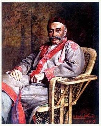 Jamsetji Tata - Tata painting by Edwin Arthur Ward