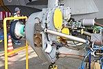 JMSDF US-2 Rolls-Royce AE2100J turboprop engine propeller gearbox left rear view at MCAS Iwakuni May 5, 2019.jpg